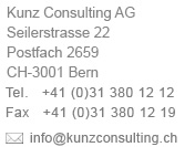 Adresse Kunz Consulting AG